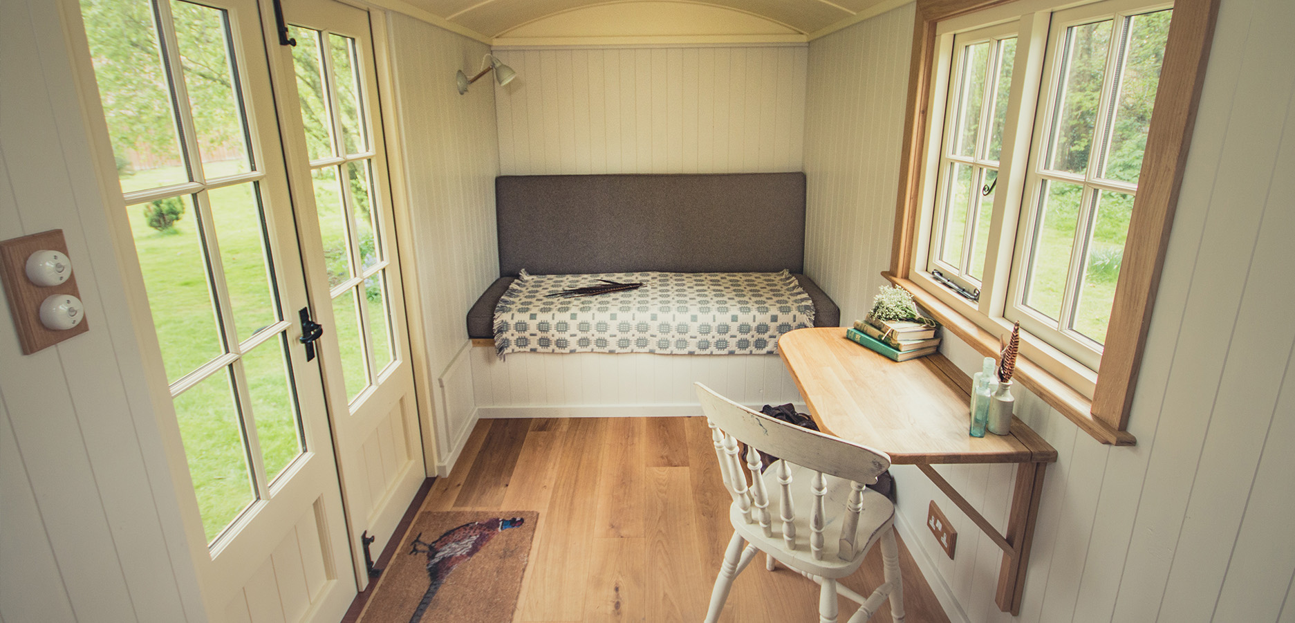A versatile space in our custom shepherd's hut design